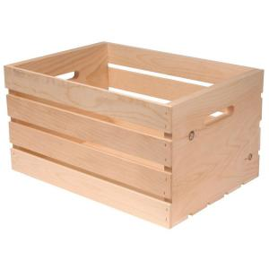 18 in x 12.5 in. x 9.5 in. Wood Crate