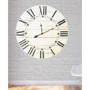 36 inch x 36 inch Vintage White Farmhouse Oversized Wall Clock by
