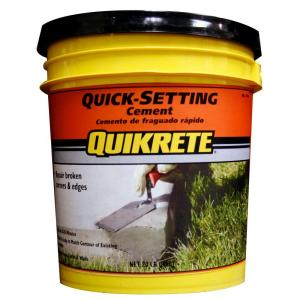 Quikrete 20 Lb Quick Setting Cement 124020 The Home Depot