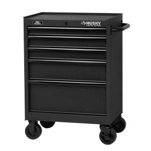 Husky 27 Inch 5 Drawer Tool Cabinet Textured Black At