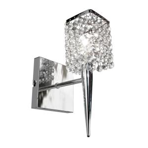 BAZZ Glam Sephora 1-Light Brushed Chrome Sconce by