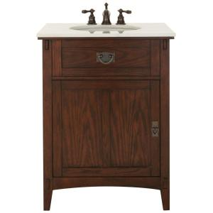 home decorators collection natural oak home decorators collection artisan 26 in w vanity in 12851