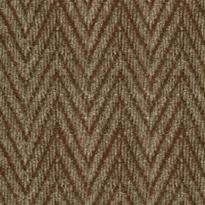 Herringbone Taupe/Walnut 18 in. x 18 in. Carpet Tile, 16 Tiles