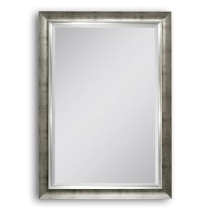 Deco Mirror 29.5 inch W x 41.5 inch H Brushed Champagne Wall Mirror