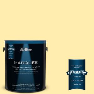 1-gal. #370A-2 Pale Daffodil Satin Enamel Exterior Paint