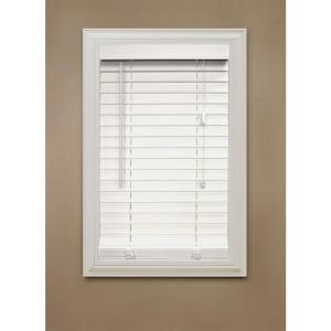 Home Decorators Collection White Faux Wood Blind 2 in. Slats, 64 in. Length (Prices Vary)