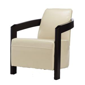 Deals Home Decorators Collection Cowell 26 5 In W Cream Bonded Leather Arm Chair 0283200440