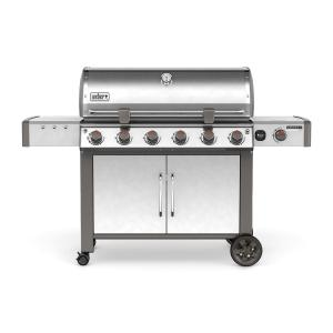 Weber Genesis II LX S-640 6-Burner Natural Gas Grill in Stainless Steel with Built-In Thermometer and Grill... by