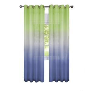 Achim Sheer Rainbow 84 inch L Single Grommet Window Curtain Panel Green by