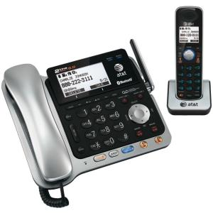 AT&T DECT 6.0 2-Line Corded/Cordless Bluetooth Phone System by AT&T