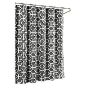 Creative Home Ideas Lenox Cotton Luxury 72 inch W x 72 inch L Shower Curtain in Charcoal by Creative Home Ideas