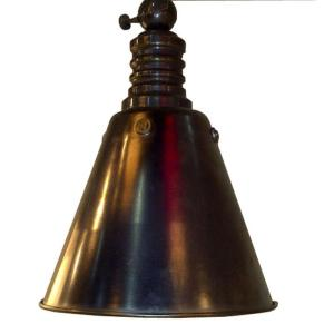 Home Decorators Collection 1-Light Weathered Nickel Cone Pendant Light