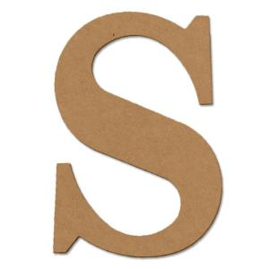 Design Craft MIllworks 8 in. MDF Classic Wood Letter (S)