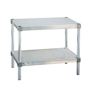 New Age Industrial 18 in. D x 30 in. L x 30 in. H 2-Shelf Aluminum Equipment Stand