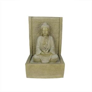 Northlight 23 inch LED Praying Buddha Water Fountain by