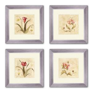 "Framed Wall Art Sets ptm images 14 in. x 14 in. ""perfect flower"" matted framed wall art"