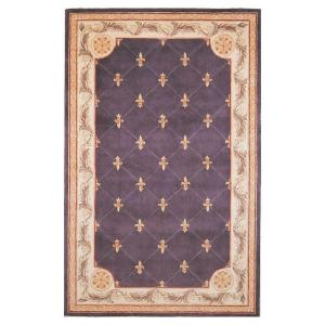 Kas Rugs Antique Fleur De Lis Grape 9 Ft. 6 In. X 13 Ft. 6 In. Area Rug JEW031296X136    The Home Depot