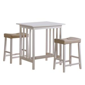 homesullivan counter height 3 piece dining table set in white 405310w 3a the home depot. Black Bedroom Furniture Sets. Home Design Ideas
