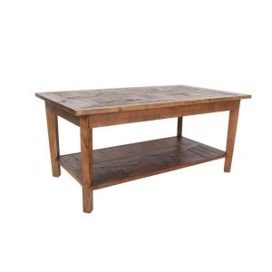 Alaterre Furniture Revive Natural Oak Storage Coffee Table by