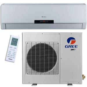 GREE Premium Efficiency 24,000 BTU (2 Ton) Ductless (Duct Free) Mini Split Air Conditioner with Inverter, Heat and Remote