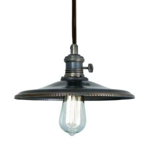 Home Decorators Collection 1-Light Bronze Saucer Pendant Light
