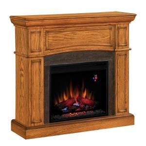 Chimney Free 43 in. Electric Fireplace in Oak-DISCONTINUED