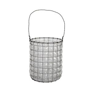 Home Decorators Collection 7 in. H Wesley Clear Hurricane Candle Holder
