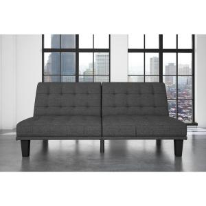 Dexter Gray Linen Futon and Lounger by