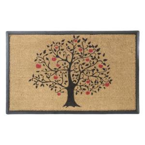 A1HC First Impression Tree Design Large Size 30 inch x 48 inch Rubber and Coir Door Mat by