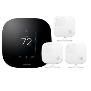 ecobee3 Smart Wi-Fi Thermostat with 3 Sensors