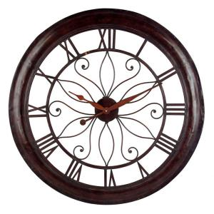 IMAX 30-1/4 inch Open Back Rust Wall Clock by IMAX