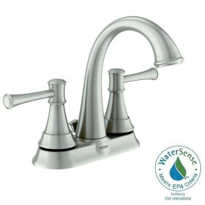 Moen Ashville 4 In Centerset 2 Handle Bathroom Faucet With Microban Protection In Spot Resist