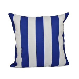 16 inch x 16 inch Classic stripes decorative Pillow in Dazzling Blue by