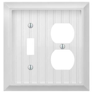 Cottage 1 Toggle 1 Duplex Combination Wall Plate - White