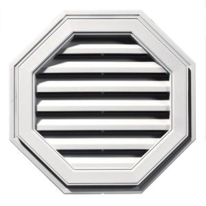 Builders Edge 22 in. Octagon Gable Vent #117 Bright White
