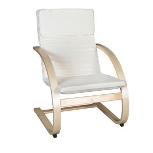 Niche Mia Natural and Beige Bentwood Reclining Chair by
