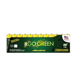 Power By Go Green AA Alkaline Battery (24 per Pack) by Power By Go Green