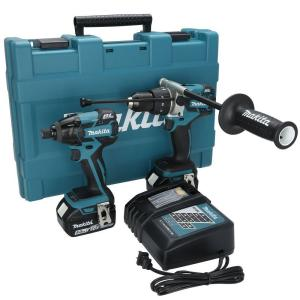 Makita 18-Volt LXT Lithium-Ion Brushless Cordless Hammer Drill/Impact Driver Combo Kit (2-Piece) w/ (2) 5.0 Ah... by