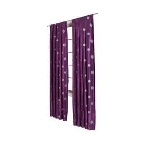 Home Decorators Collection Cirque Aubergine Rod Pocket Curtain