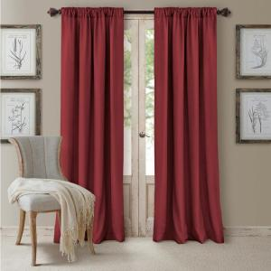 Blackout Cachet 52 inch W x 84 inch L Blackout Window Curtain Panel Brick by