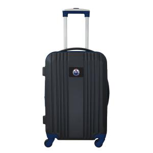 Denco NHL Edmonton Oilers 21 inch Navy Hardcase 2-Tone Luggage Carry-On Spinner... by Denco