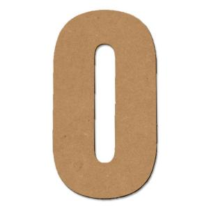 Design Craft MIllworks 8 in. MDF Block Wood Number (0)