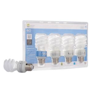 EcoSmart 14-Watt (60W) Daylight CFL Light Bulbs (4-Pack) (E)*