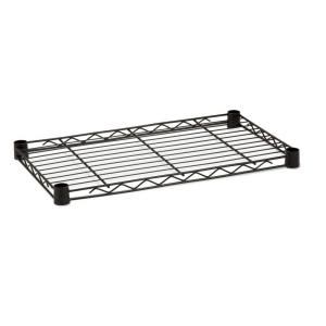 Honey-Can-Do 36 in. W x 1 in. H x 16 in. D Freestanding Steel Shelf in Black