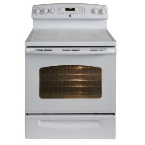 GE Adora 5.3 cu. ft. Electric Range with Self-Cleaning Convection Oven in White