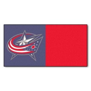 Fanmats Columbus Blue Jackets Team Carpet Tiles 18 in. x 18 in. Tiles