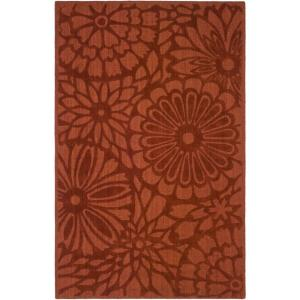 Martha Stewart Living Full Bloom Vermillion 9 ft. x 12 ft. Area Rug