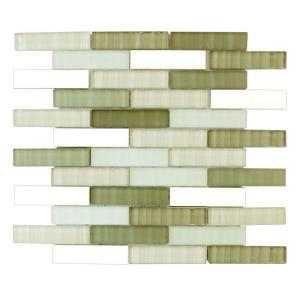 Jeffrey Court Cactus Pencil 13 5/8 in. x 11 3/4 in. Ceramic/Glass Wall Tile
