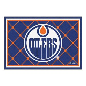 FANMATS NHL Edmonton Oilers Blue 5 ft. x 8 ft. Indoor Area Rug by FANMATS