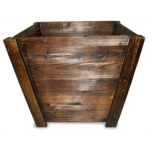 Pennington 16 In Dark Flame Wood Tapered Planter